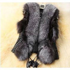2017 fashion winter women fur jackets coat sexy oversized waistcoat vest soft warm slim femme faux fur sleeveless vest