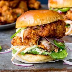 Crispy Chicken Burger with Honey Mustard Coleslaw for National Burger Day - 24th August - Nicky's Kitchen Sanctuary