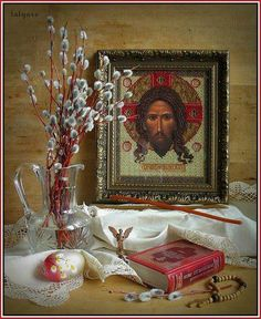 "Pascha Still Life (artist unknown) ""The Lord has created me..."""