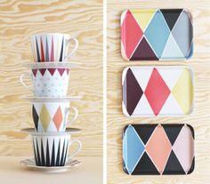tasses colorées et graphiques - vaisselle ikéa