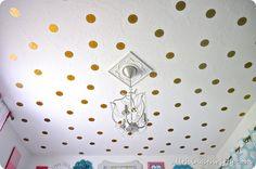 Love this polka dot ceiling!