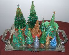 Polymer Clay CHRISTMAS Tree TUTORIAL 5 in 1 Five different kinds by 1000and1