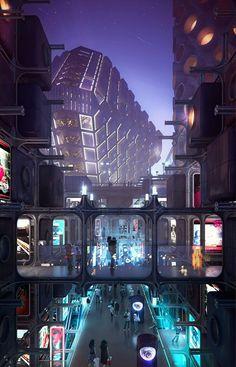 Ideas Sci Fi Concept Art Cyberpunk Future City For 2019 Cyberpunk City, Arte Cyberpunk, Ville Cyberpunk, Futuristic City, Futuristic Architecture, Cyberpunk Anime, Futuristic Technology, City Architecture, Technology Gadgets