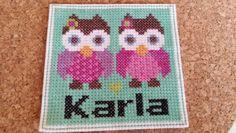 Cross stitch, owl, ugler