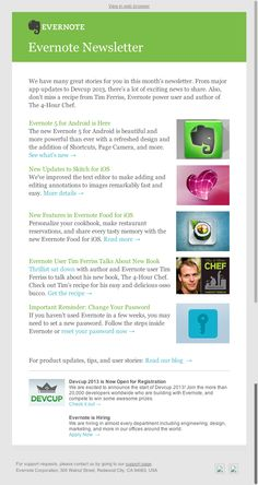 Evernote Newsletter