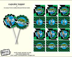 Ben 10 - Favor Tags or Cupcake Toppers