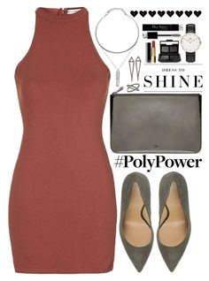 """""""What's Your Power Outfit?"""" by saramsilva ❤ liked on Polyvore featuring Christian Dior, Topshop, Armani Collezioni, Mulberry, Eva Fehren, Levi's, NARS Cosmetics, Chanel and Daniel Wellington"""