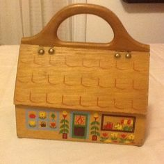 VTG Gary Gail Dallas Greenhouse Wooden Purse