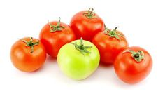 Tomato, Food, Vegetable, Green, Red