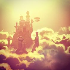This reminds me of Five Kingdoms: Sky Raiders, a book series by Brandon Mull. It's definitely worth a read.