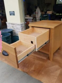 """Bedside or End Table with Child Proof Lock 18"""" x 18"""" x 22"""" tall #woodworking 