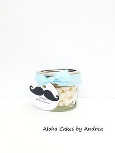 Little Man Baby Shower, Mini Mason Jar, Mustache Party, Personalized Favor, Mustache Baby Shower Favor, Its a Boy Decorations, Set of 4 on Etsy, $12.00