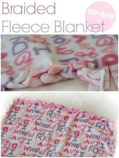 No Sew Braided Fleece Blanket - Eclectic Momsense