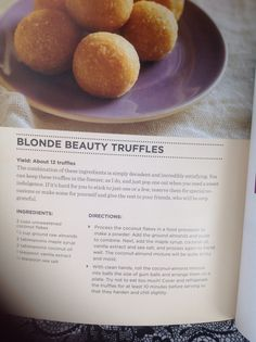 Kimberly Snyder Blonde Beauty Truffles