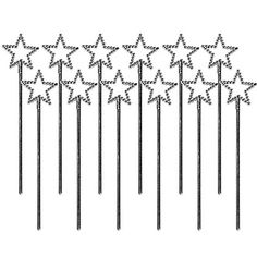 Silver Star Wands $2.99