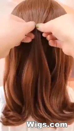 Hairdo For Long Hair, Short Hair Updo, Easy Hairstyles For Long Hair, Braided Hairstyles, Young Girls Hairstyles, Hairdos, Hair Tutorials For Medium Hair, Medium Hair Styles, Short Hair Styles
