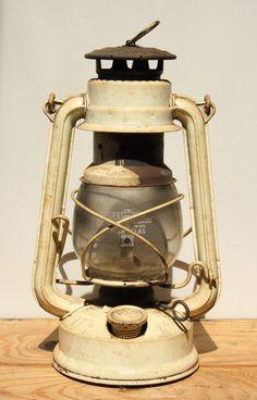 Antique German Oli Lamp Railroad lantern Rustic by RedSableStudio, $32.00
