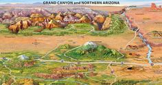 Map of Grand Canyon South Rim part 2