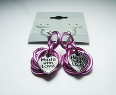 Pink Love Knot Earrings by Jewelsforhope on Etsy, $15.00