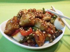 Fabulosa receta para Pollo en salsa teriyaki con verduritas. Pollo al estilo oriental con verduritas y salsa teriyaki, fácil y rápidos de cocinar.
