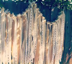 Burlap and Lace Backdrop Fabric Garland