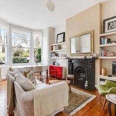 This unusually large duplex garden flat benefits from high ceilings wooden floors and a beautiful bay-fronted reception room with original fireplace. London Property, Property For Sale, Maida Vale, High Ceilings, Reception Rooms, Wooden Flooring, The Hamptons, Floors, Home Appliances