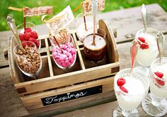 Fun for an ice cream party!  Toppings station. #icecream #party