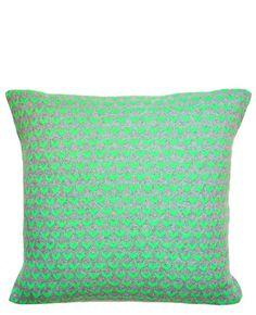 Neon Arrow Knit Pillow