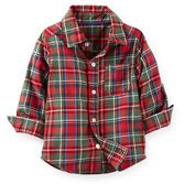A warn flannel shirt is a must-have to begin any polished outfit. Plaid pattern looks great with his 5-pocket cords.