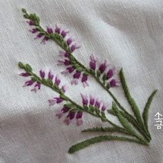 Embroidered Flowers.