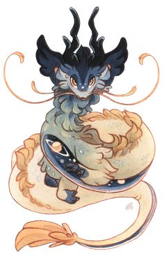 Terradragon - Starcaller by Baraayas on DeviantArt Mythical Creatures Art, Fantasy Creatures, Cute Animal Drawings, Art Drawings, Wolf Drawings, Design Dragon, Character Art, Character Design, Manga Dragon