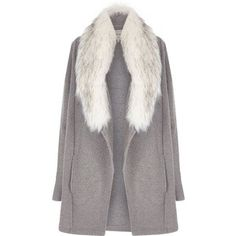 River Island Grey faux fur collar jacket