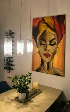 Acryl painting living room update Woman with turban acryl painting painting large canvas 120 215 80 Acryl painting living room update Woman with turban acryl painting painting large canvas 120 215 80 Christina Maes Acrylmalerei Acryl nbsp hellip Art Sketches, Art Drawings, African Art Paintings, Canvas Art, Large Canvas, Painting Canvas, African American Art, Acrylic Art, Acrylic Paintings