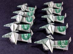 Wiener Dog Dachshunds Money Origami