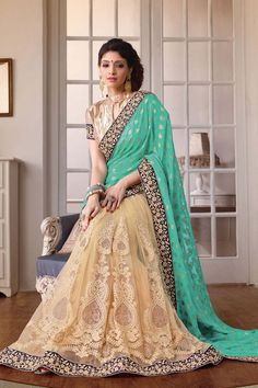 Green Georgette Latest Designer Saree