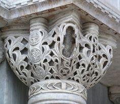 Byzantine Capital by petrus. Architecture Tattoo, Amazing Architecture, Art And Architecture, Architecture Details, Architectural Salvage, Architectural Elements, Rome Florence, Column Capital, Byzantine Architecture