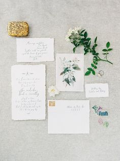 Simple grey & black wedding inspiration blog post by Magnolia Rouge | calligraphy by  Aberton Design