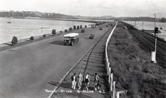 Tamaki Drive & the North Island main trunk rail line, Auckland, Old Images, Auckland, What Is Like, Kiwi, New Zealand, Maine, The Neighbourhood, Country Roads, Bays