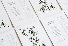 viridian collection — wedding invites