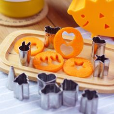 5 Pc/Lot Cute Funny  Mini  Biscuit Cookie Cutters Set Fruit Vegetable Slicer Cutters  Kitchen Cooking  Tools For Child
