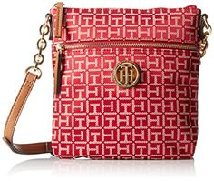 Tommy Hilfiger Web Jacquard Cross Body, Red/Cream, One Size >>> Find out @ Best Handbags, Fashion Handbags, Iphone Watch Bands, Tommy Hilfiger Handbags, Cross Body, Image Link, Crossbody Bag, Check, Red