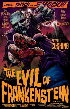 (1964) The Evil of Frankenstein by Jeff Zornow