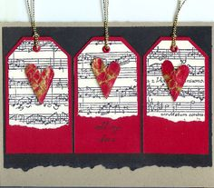 Musical Tags by dostamping - Cards and Paper Crafts at Splitcoaststampers