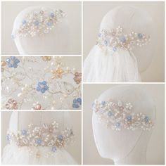 The Meadow Headdress | http://www.hermioneharbutt.com/wedding/hair_accessories/