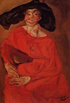 Chaïm Soutine - Woman in red