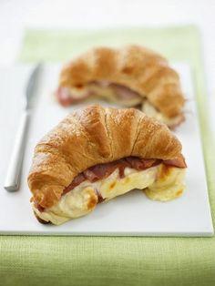 Baked Ham Prosciutto Camembert Croissant Sandwiches