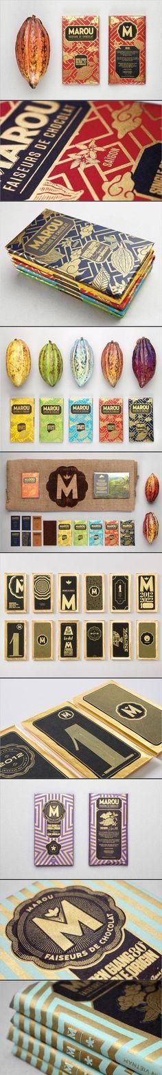 Marou Faiseurs de Chocolat /Rice Creative. / food graphic design packaging