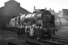 Trainspotters at Crewe 1954