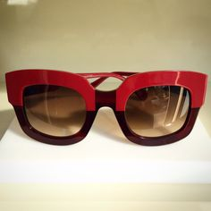 Luscious ruby red sunglasses from Face a Face