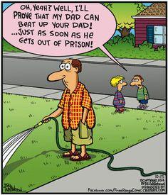 Free Range by Bill Whitehead Saturday, October 2014 Funny Cartoons, Funny Comics, Cartoon Humor, Silly Photos, Funny Photos, Prison Humor, Funny Memes Images, Haha Funny, Funny Stuff